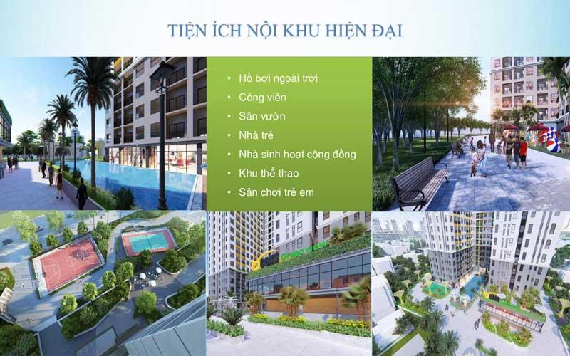 tiện ích nội khu căn hộ bcons green view hiện đại