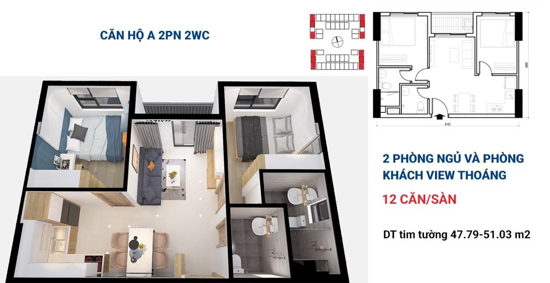 thiết kế căn hộ Bcons Plaza