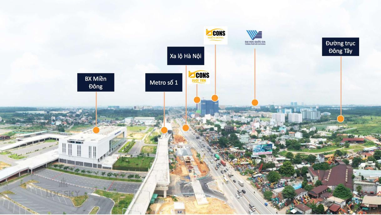kết nối bcons plaza