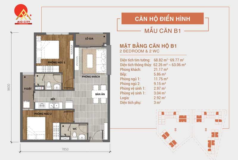 Thiết kế căn hộ Aio City