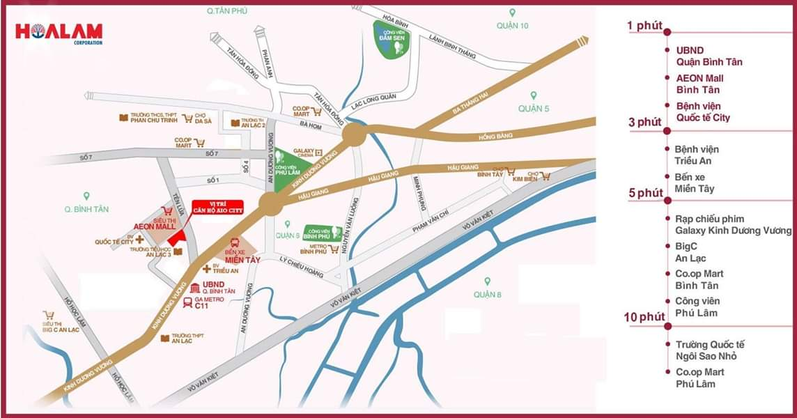 vị trí dự án aio city