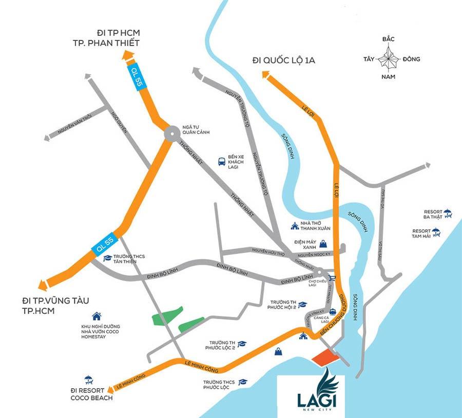 vị trí dự án Lagi New City
