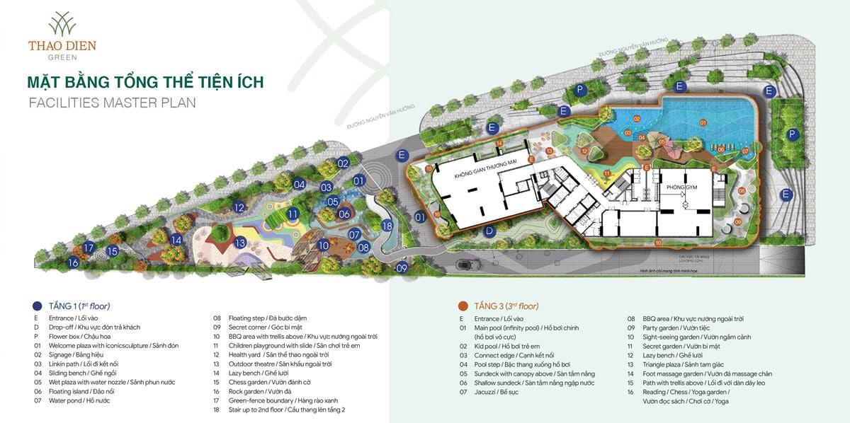 tiện ích nội khu nổi trội của dự án thảo điền green