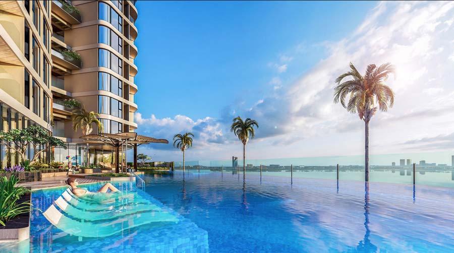 hồ bơi tại Thảo Điền Green