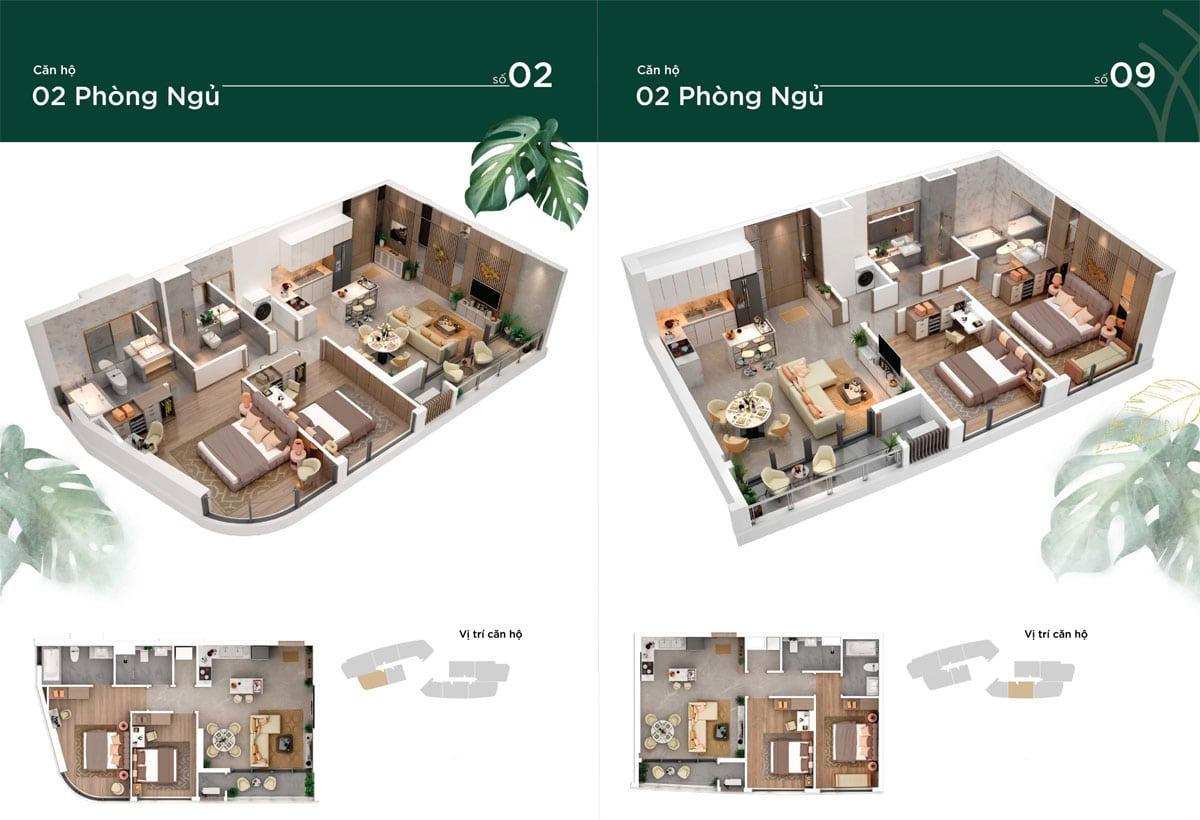 thiết kế căn hộ thao dien green