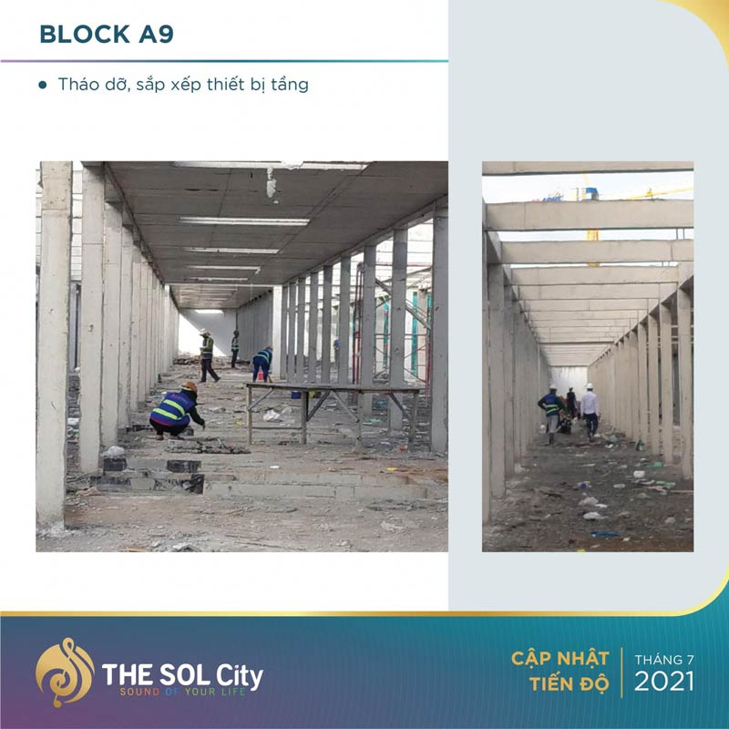 Tiến độ dự án The Sol City tháng 7/2021